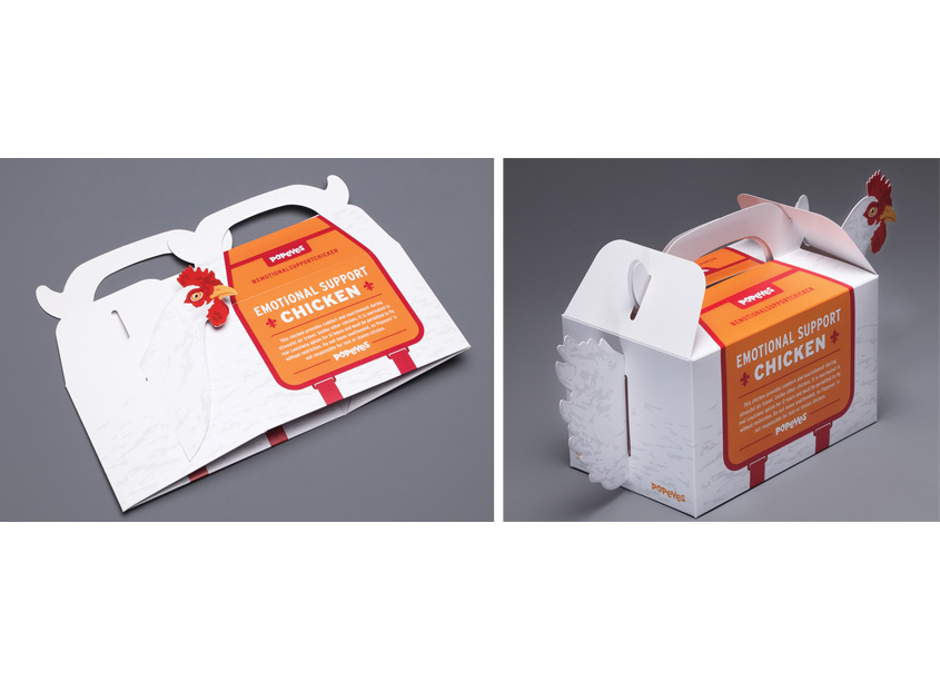 Popeyes Emotional Support Chicken Box by Structural Graphics