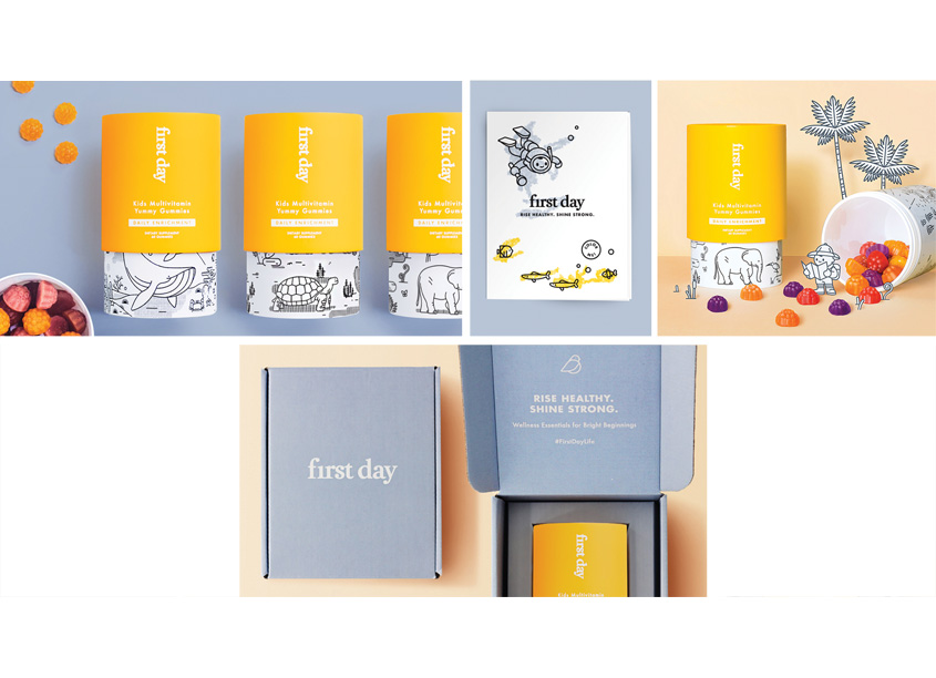 First Day Vitamins Packaging by Bartlett Brands