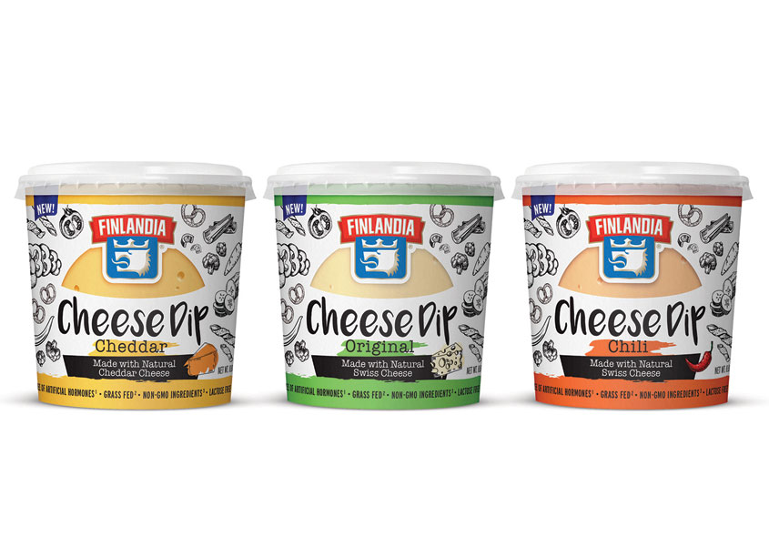Finlandia Cheese Dip Packaging by Vision Creative Group