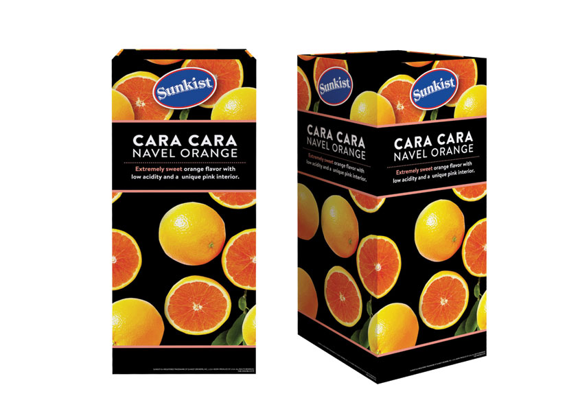 Proactive Packaging & Display Cara Cara Navel Orange Merchandising Bin Display Retail