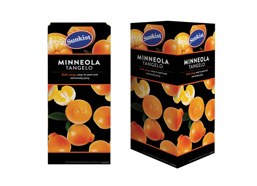 Minneola Tangelo Merchandising Bin Display Retail by Proactive Packaging & Display