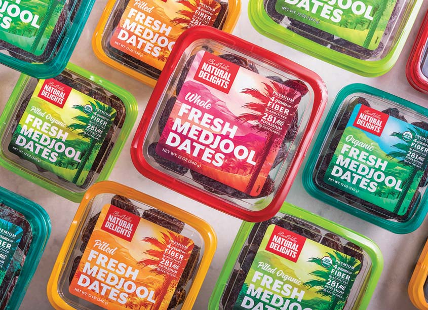 Fresh Medjool Dates Package Design by MJR Creative Group