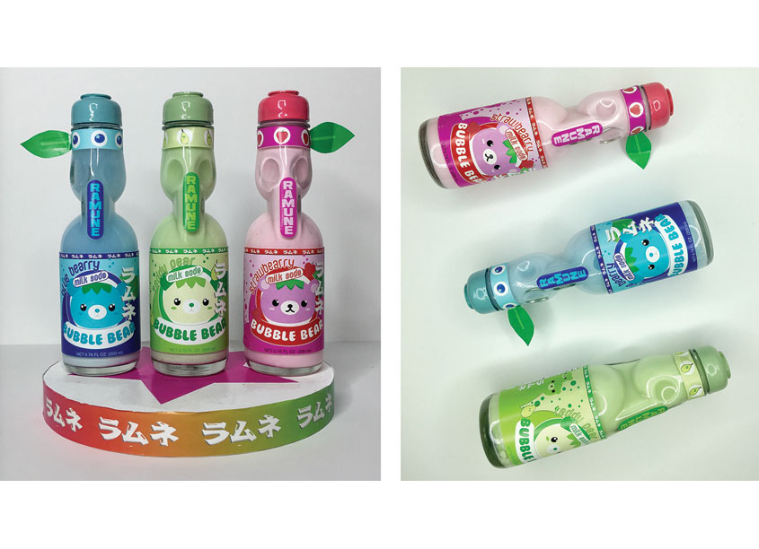 Bubble Bear Soda Packaging by Woodbury University