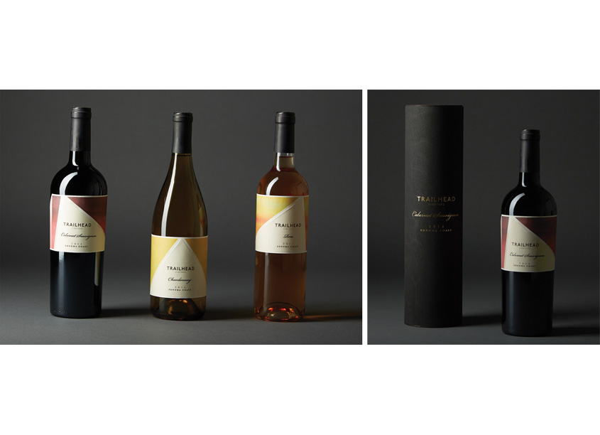 Trailhead Vineyard Rebranding and Package Design by Academy of Art University