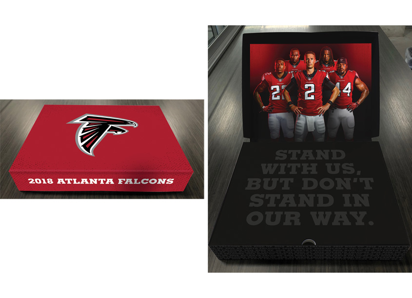 AMB Sports & Entertainment/Creative Services Atlanta Falcons Ticket Box