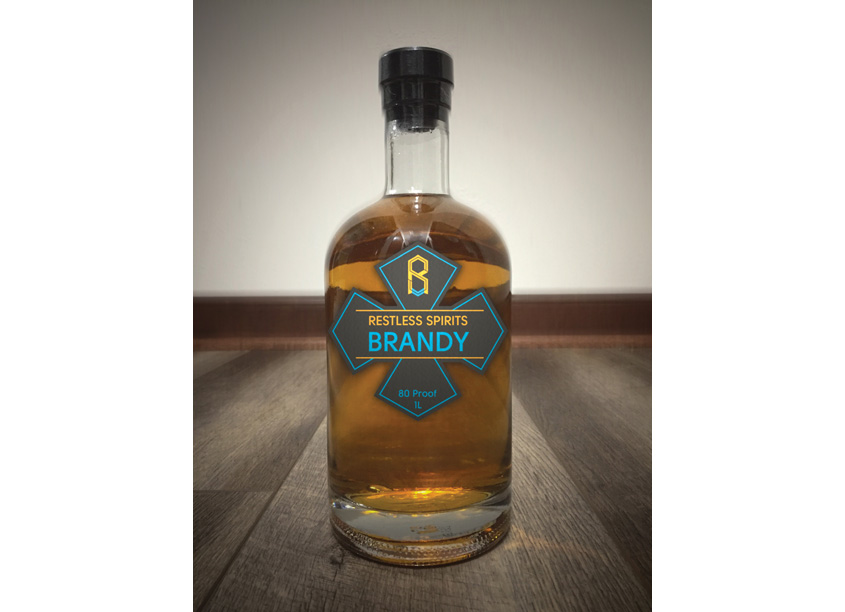 Restless Spirits Brandy by Erik Borreson Design