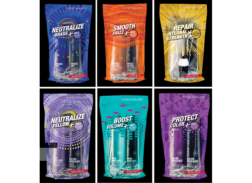 Matrix LLC and ProAmpac Matrix Total Results Hair Care Holiday Kits