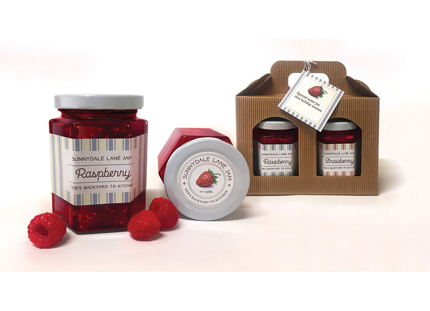 Sunnydale Lane Jam Packaging by PLDG