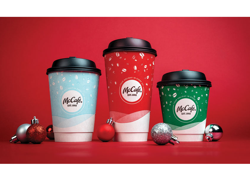 McCafé Holiday Cups by Boxer Brand Design