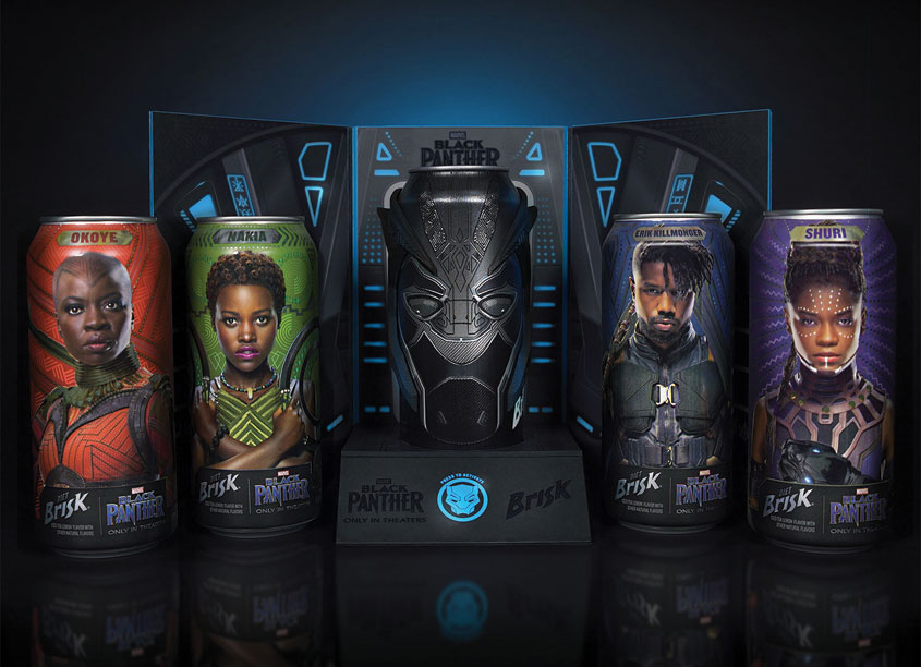 PepsiCo Design & Innovation Brisk x Marvel Studios: Wakanda Forever Special Edition Package