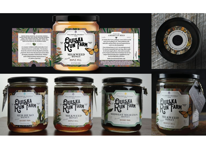 Ouiska Run Farm Package Design by Jess Glebe Design