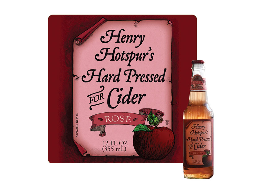 Inland Packaging Henry Hotspur's Rose Cider