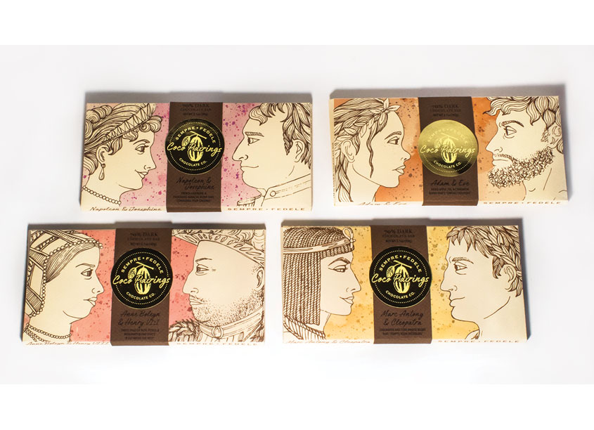 Sempre Fedele Chocolate Packaging by Kutztown University
