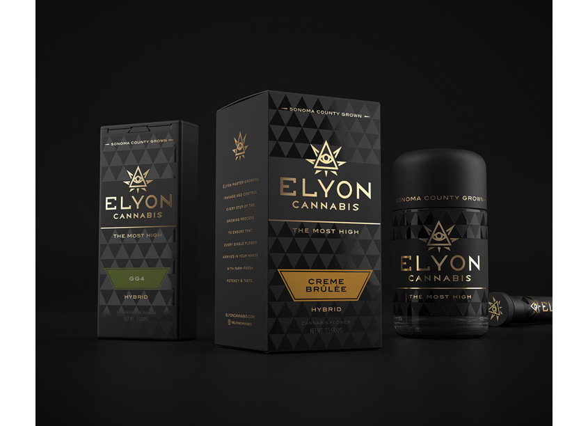 SixAbove Studios Elyon Cannabis Branding and Packaging