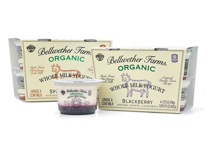 Bellwether Blackberry & Apple 4oz Yogurt Cups by Mark Oliver Inc.