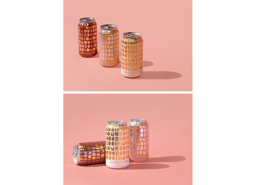 Obsession Canned Wines Series by Watermark Design