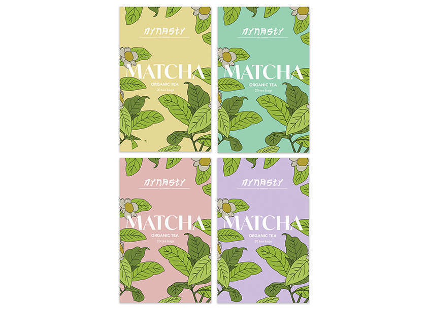 MATCHA Organic Tea Package Design by Savannah College of Art and Design (SCAD)