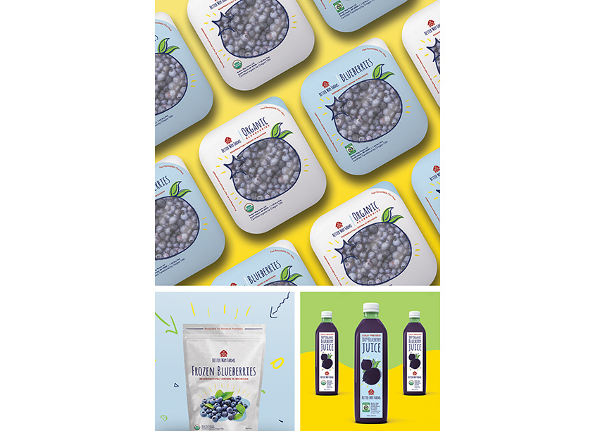 Better Way Farms Blueberry Packaging by Rule29