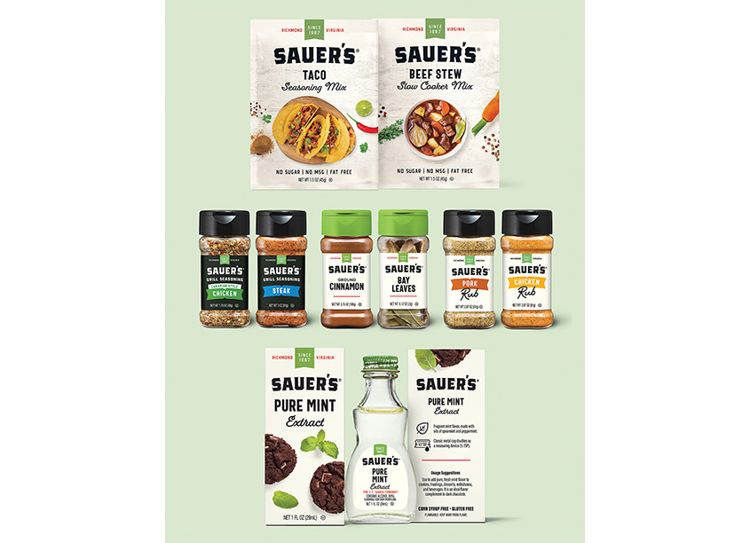 Sauer's Spices, Extracts and Flavorings Rebrand by Elevation