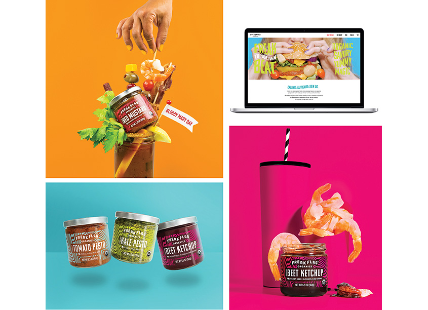 Freak Flag Organics Brand and Package Design  by Haberman