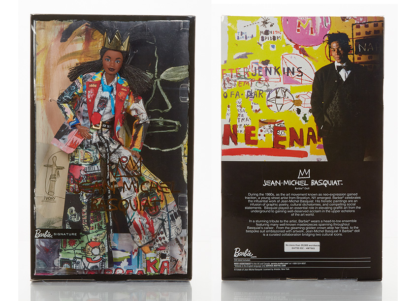 Mattel, Inc. Jean Michel Basquiat™ Barbie® Doll Packaging