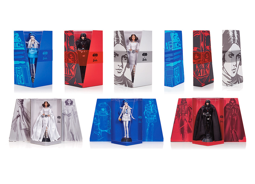 Mattel, Inc. Star Wars™ X Barbie® Dolls Packaging