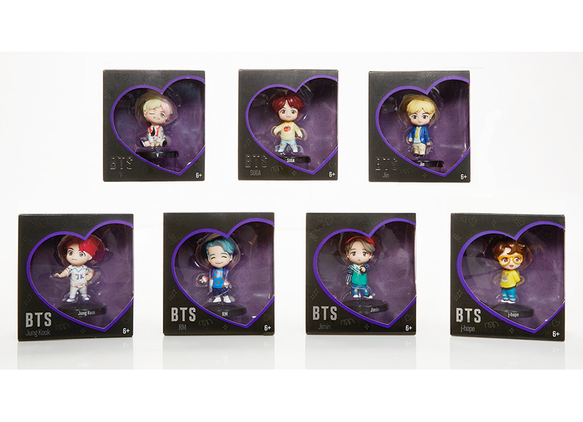 Mattel, Inc. BTS Mini Vinyl Dolls Packaging