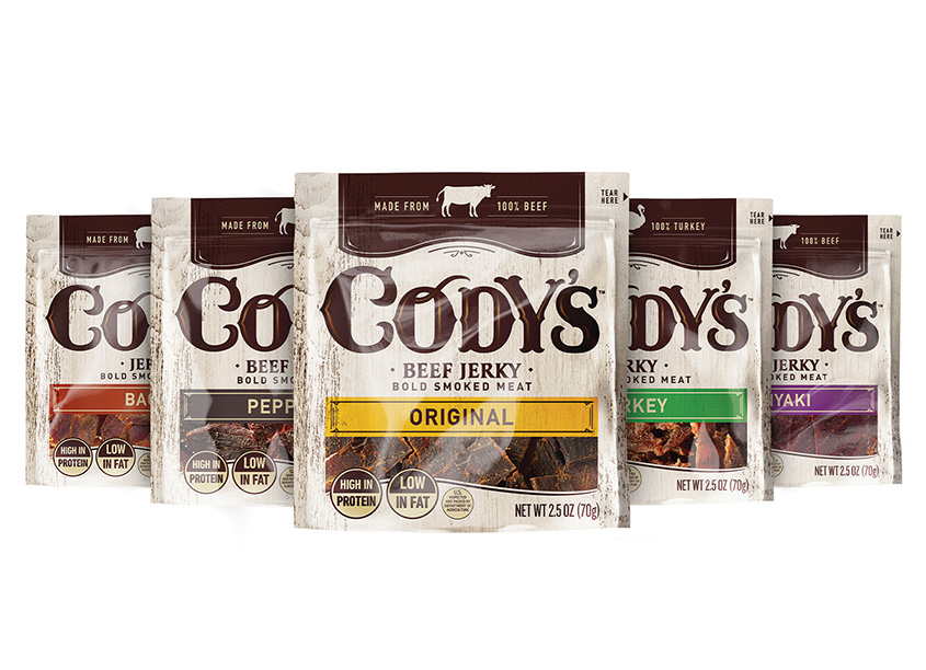 Cody's Meat Snacks Packaging by Marks Design