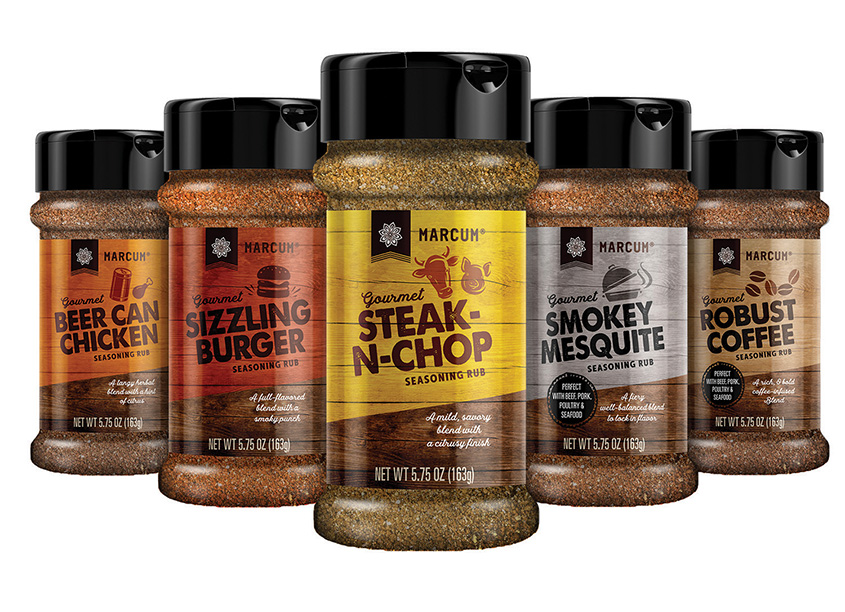 Marcum Premium Rubs Packaging by Marks Design