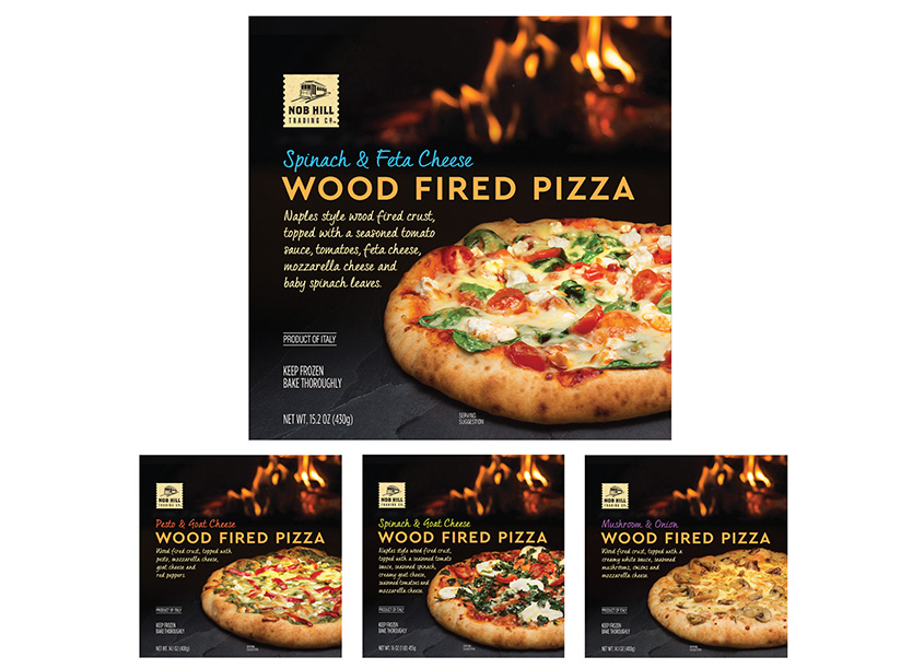 Nob Hill Wood Fired Pizza Packaging by Daymon Creative Services