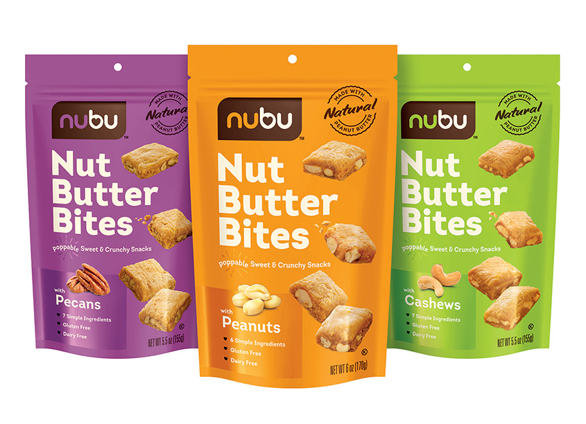 NUBU Snacks Packaging by Hughes BrandMix