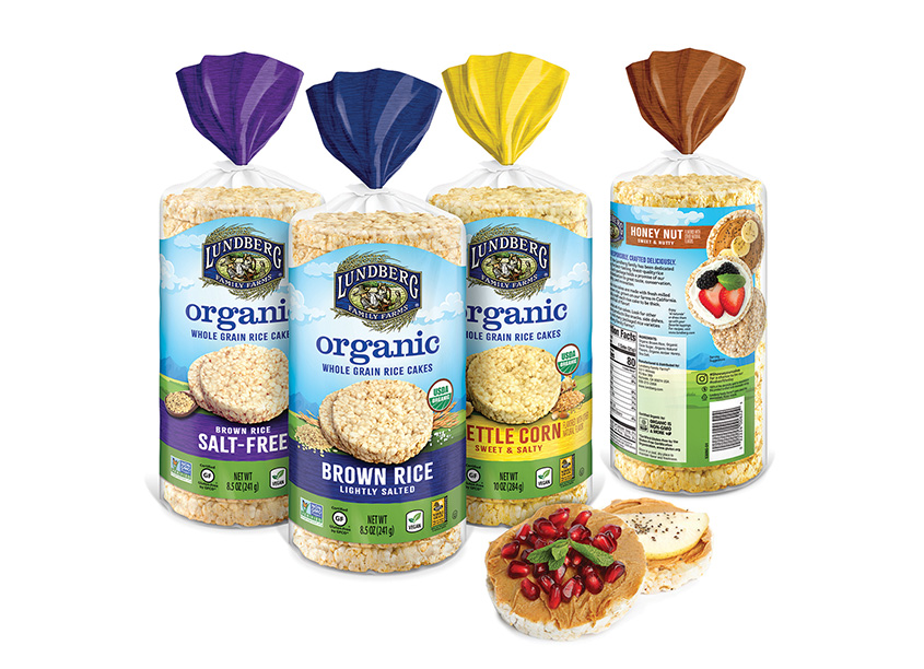 Organic Rice Cakes Packaging by Hughes BrandMix