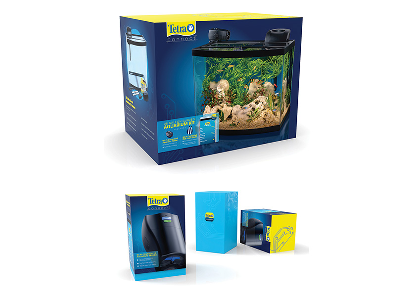 Tetra Connect™ Aquarium Kit and Wifi Controlled Feeder by Spectrum Brands