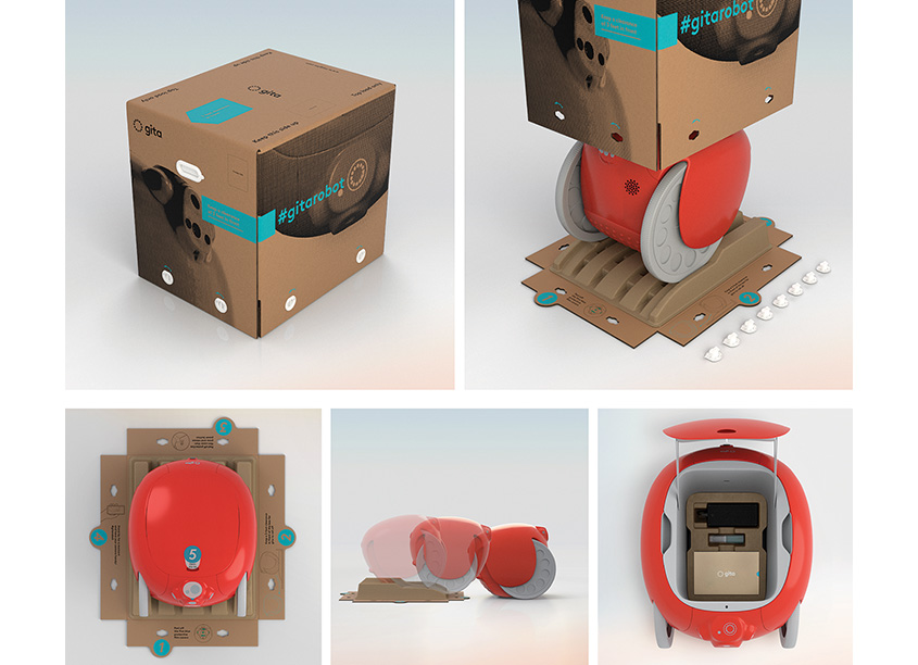 Piaggio Fast Forward gita Robot Packaging System