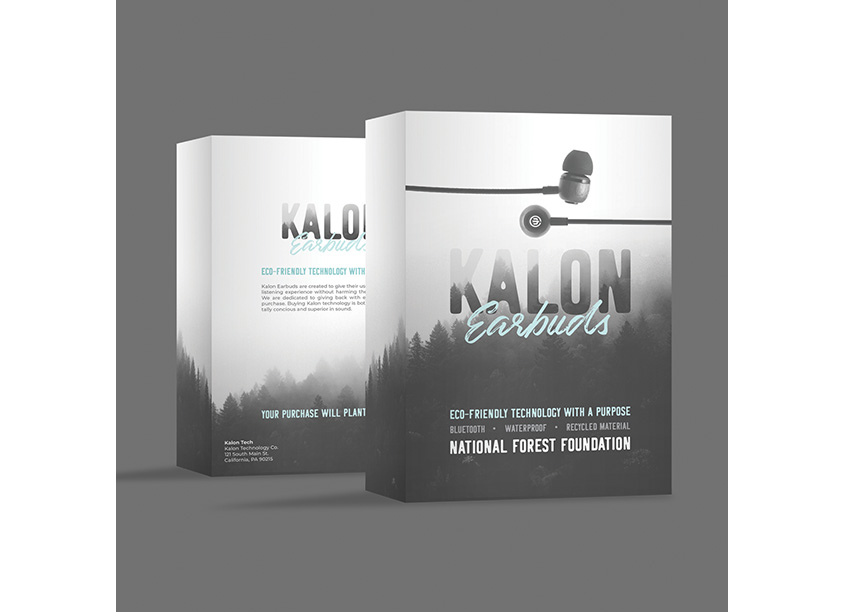 Kalon Eco-Friendly Earbuds by Pennsylvania College of Art & Design (PCA&D)