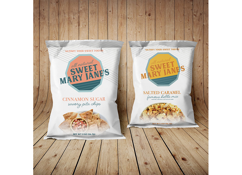 Sweet Mary Jane's Cinnamon Sugar Pita Chips and Salted Caramel Kettle Mix by Pennsylvania College of Art & Design (PCA&D)