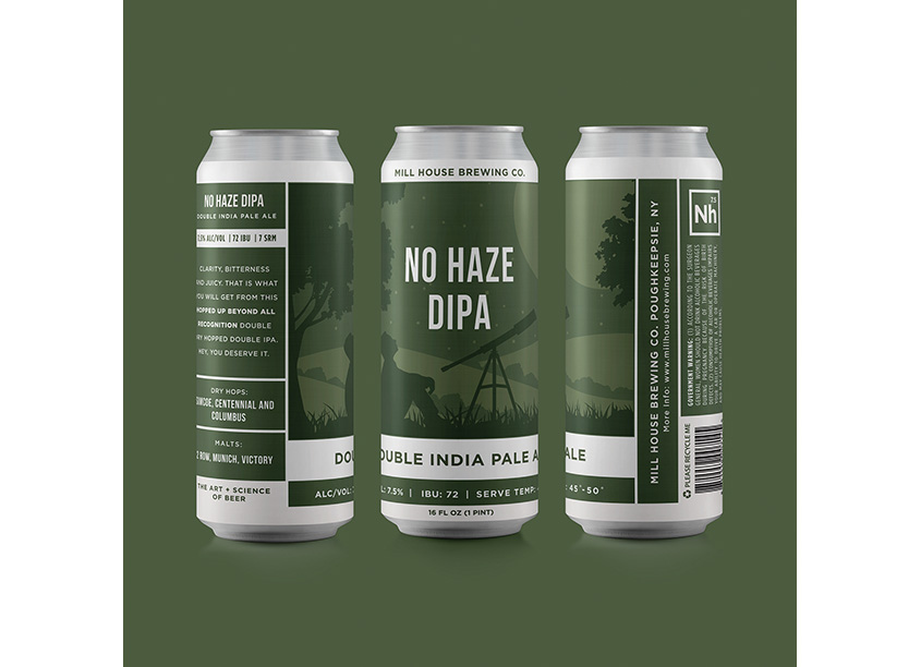 Thank God It's Monday (TGIM) No Haze Double IPA Beer Packaging