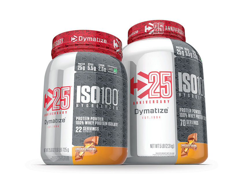 Andon Guenther Design, LLC Dymatize ISO100 25th Anniversary Packaging