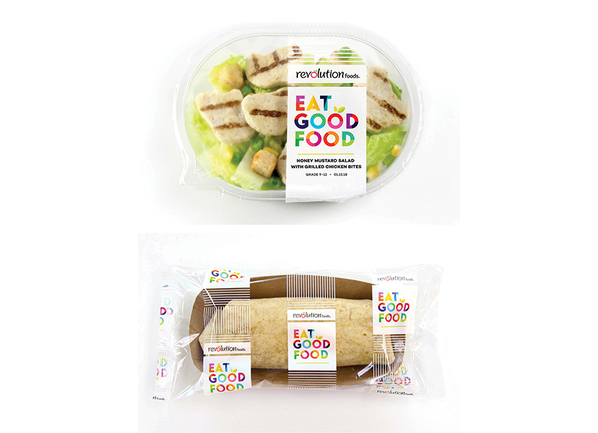 The Creative Pack Revolution Foods School Meal Packaging