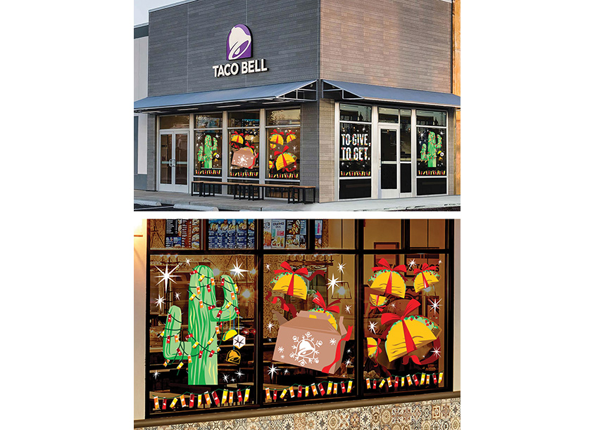 Season of Giving Window Clings by Taco Bell Design