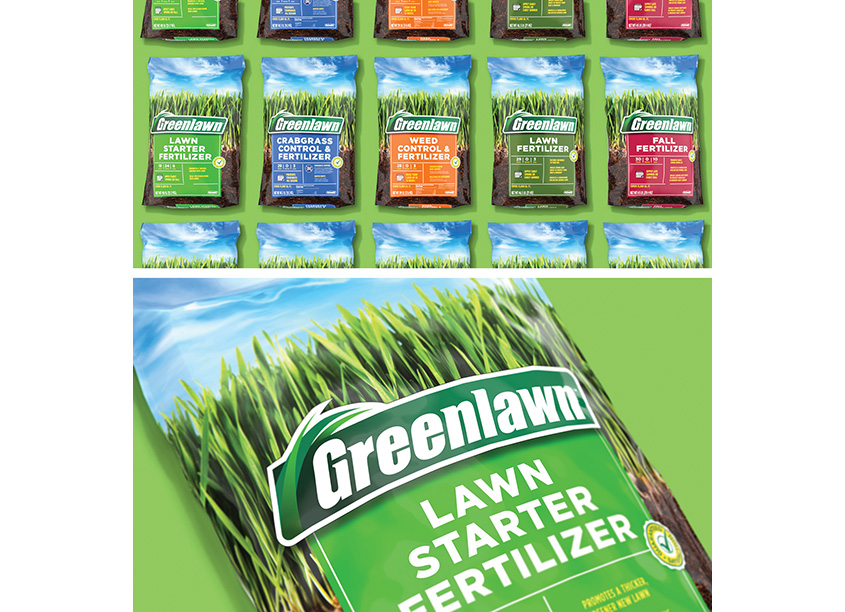 Greenlawn Fertilizer Design by COHO Creative