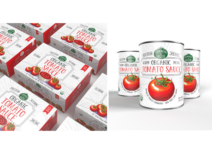 Summer Is Inside Organic Tomato Sauce by Stark Designs, LLC