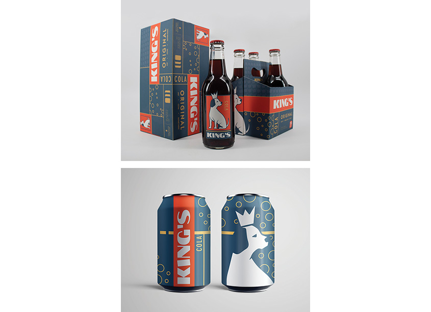 Auburn University School of Industrial + Graphic Design King's Cola Branding