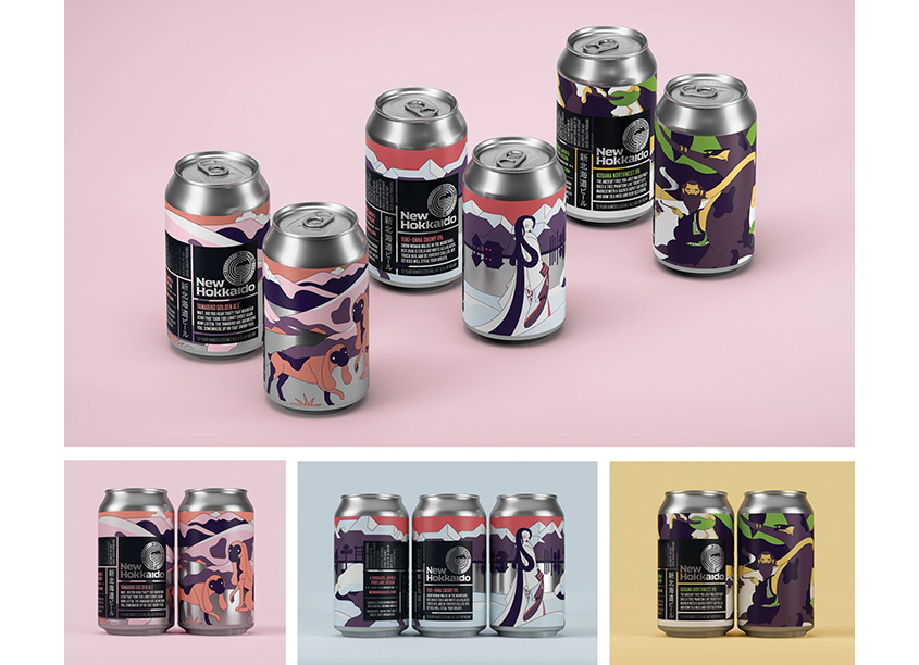 New Hokkaido Beer Packaging by Sally Morrow Creative