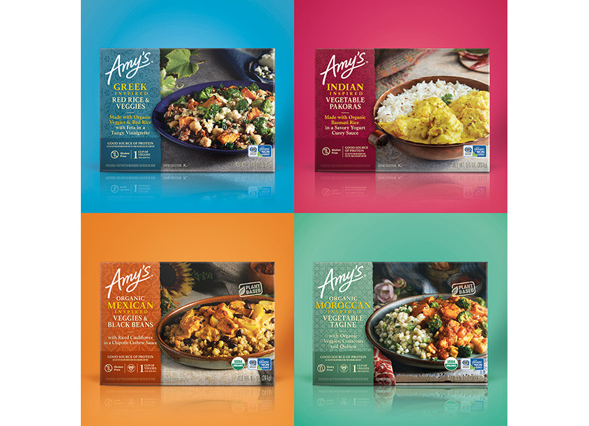 Amy's Globally Inspired Entrees by Amy's Kitchen In-house Design Team