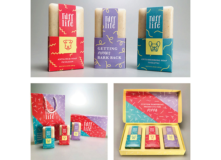Ruff Life Dog Soap Packaging by Kennesaw State University/School of Art & Design