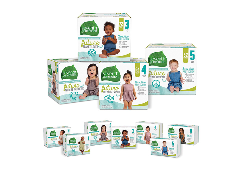 A Hopeful Future Diaper Packaging by Seventh Generation Creative Team
