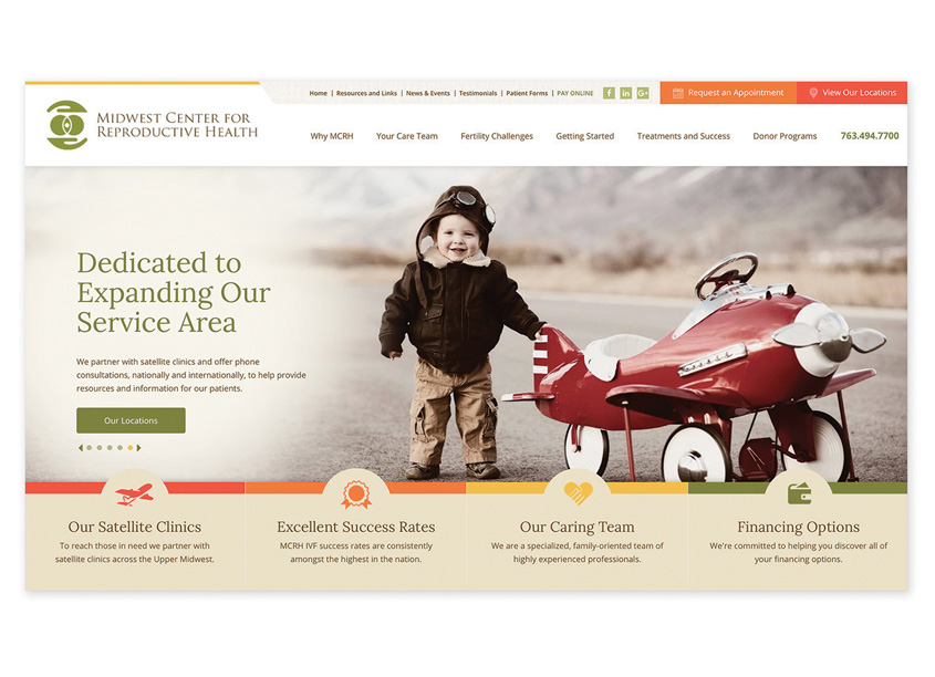 Prime Advertising & Design  Midwest Center for Reproductive Health Website Design