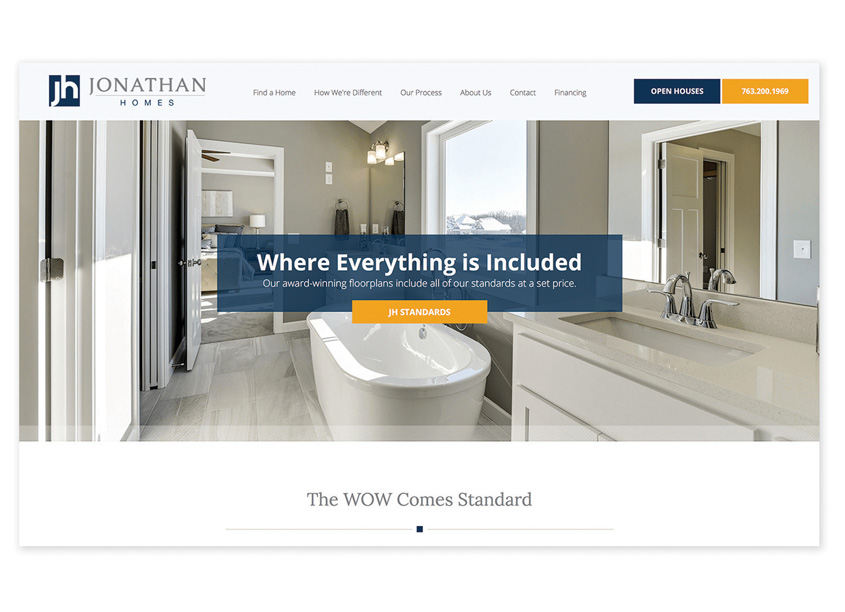 Prime Advertising & Design  Jonathan Homes Website