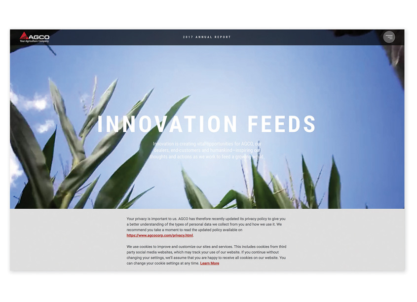 Ideas On Purpose  2017 Annual Report Website - Innovation Feeds